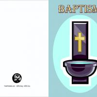 Baptism With Gold Cross Invite