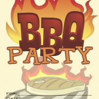 Barbecue Blank Summer Party Invitation