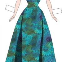 Paper Doll Beach Gown