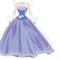 Paper Doll Lavender Long Gown