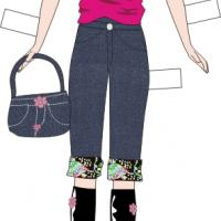 Barbie Paper Doll Mall Outfit