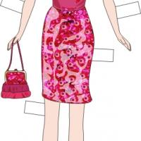 Printable Paper Doll Pink Racy Outfit - Printable Fun - Free Printable Activities