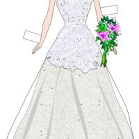 Paper Doll Wedding Gown