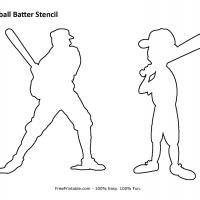 Printable Baseball Batter - Printable Stencils - Free Printable Crafts
