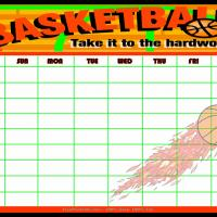 Printable Basketball Chart - Printable Chore Charts - Free Printable Activities