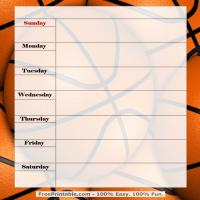 Basketball Weekly Planner