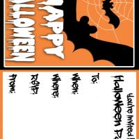 Printable Bats for Halloween - Printable Party Invitation Cards - Free Printable Invitations