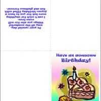 Bday Cake Card With Poem