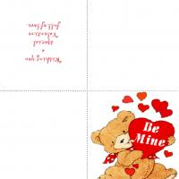 Printable Be Mine Bear - Printable Valentines - Free Printable Cards