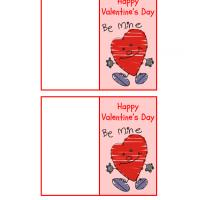 Printable Be Mine Heart Valentine Gift Card - Printable Valentines - Free Printable Cards