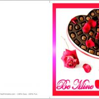 Printable Be Mine With Chocolates - Printable Valentines - Free Printable Cards