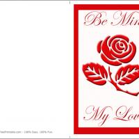 Printable Be Mine With Flowers - Printable Valentines - Free Printable Cards