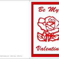 Printable Be My Valentine With Rose - Printable Valentines - Free Printable Cards