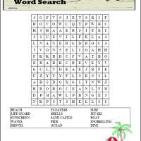 Printable Beach Boardwalk Word Search - Printable Word Search - Free Printable Games