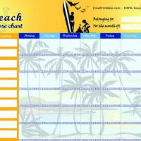 Beach Chore Chart