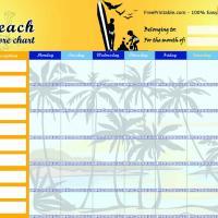 Beach Chore Chart