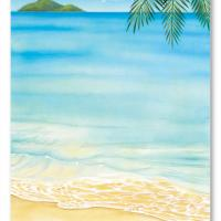 Beach Escapade Blank Card Invitation