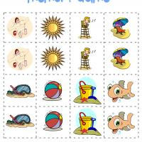 Printable Beach Memory Game - Printable Board Games - Free Printable Games