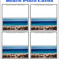 Printable Beach Place Cards - Printable Place Cards - Free Printable Cards