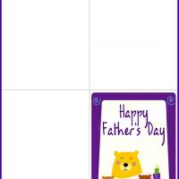 Printable Bear Family Father's Day Card - Printable Fathers Day Cards - Free Printable Cards