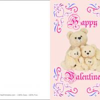 Printable Bear Family - Printable Valentines - Free Printable Cards