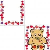 Printable Bear Hearts - Printable Valentines - Free Printable Cards