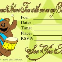 Printable Bear Invitation - Printable Birthday Invitation Cards - Free Printable Invitations