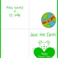 Printable Bear Save the Earth Card - Printable Greeting Cards - Free Printable Cards