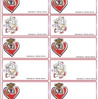 Bear With Basket Of Hearts Gift Cards
