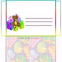 Printable Bear With Gifts - Printable Card Maker - Free Printable Cards