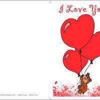 Bear With Heart Balloons