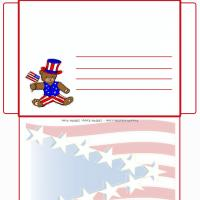 Printable Bear With US Flag - Printable Card Maker - Free Printable Cards