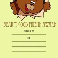 Printable Beary Good Friend - Printable Awards - Misc Printables