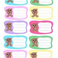 Printable Beary Labels - Printable Labels - Misc Printables