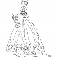 Printable Beautiful Princess 1 - Printable Princess - Free Printable Coloring Pages