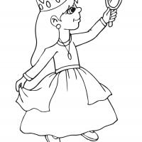 Printable Beautiful Princess 20 - Printable Princess - Free Printable Coloring Pages