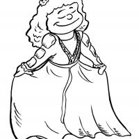 Printable Beautiful Princess 4 - Printable Princess - Free Printable Coloring Pages