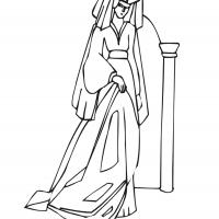 Printable Beautiful Princess 5 - Printable Princess - Free Printable Coloring Pages