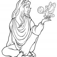 Printable Beautiful Princess 6 - Printable Princess - Free Printable Coloring Pages