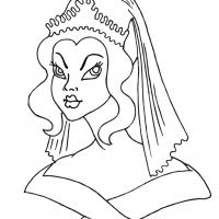 Printable Beautiful Princess 9 - Printable Princess - Free Printable Coloring Pages