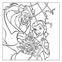 Printable Beauty and Beast - Printable Disney - Free Printable Coloring Pages