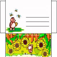Printable Bee Bear With Sunflowers - Printable Card Maker - Free Printable Cards