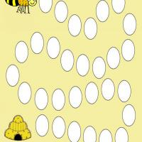 Printable Bee Board Game - Printable Board Games - Free Printable Games