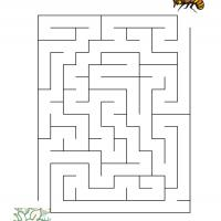 Printable Bee Finding The Flower - Printable Mazes - Free Printable Games