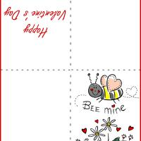 Printable Bee Mine Card - Printable Valentines - Free Printable Cards