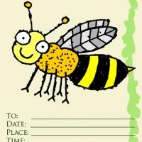 Bee Party Invitation