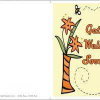 Printable Bee With Flower Get Well Card - Printable Get Well Cards - Free Printable Cards