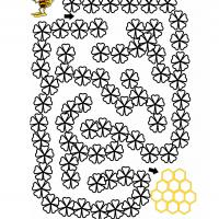 Printable Go To Beehive Maze - Printable Mazes - Free Printable Games