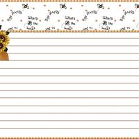 Printable Beehive Recipe Card - Printable Recipe Cards - Misc Printables