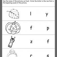 Printable Field Beginning Consonants Review - Printable Kindergarten Worksheets and Lessons - Free Printable Worksheets